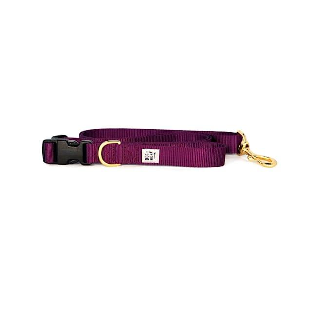 Dog + Bone Purple Adjustable Dog Leash - Carousel image #1