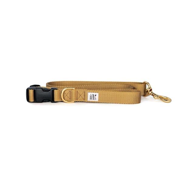 Dog + Bone Gold Adjustable Dog Leash - Carousel image #1