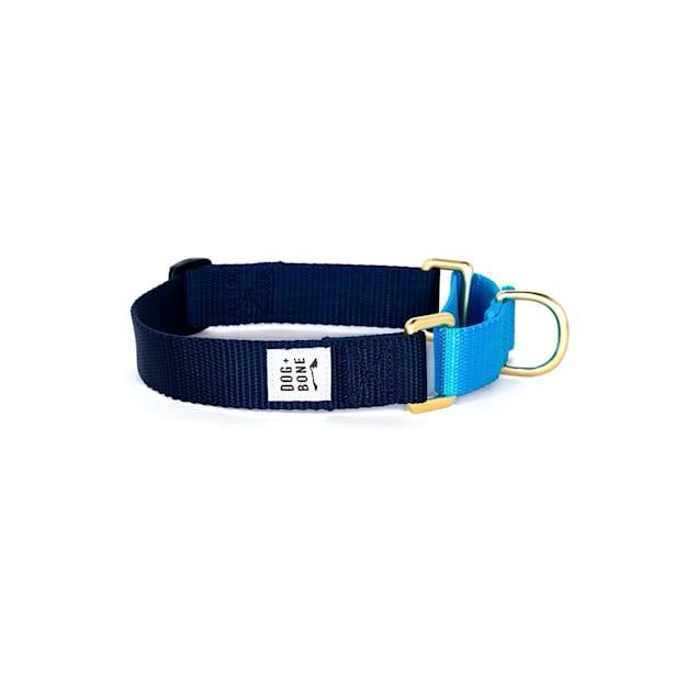 Dog + Bone Navy & Blue Martingale Dog Collar, Small - Carousel image #1