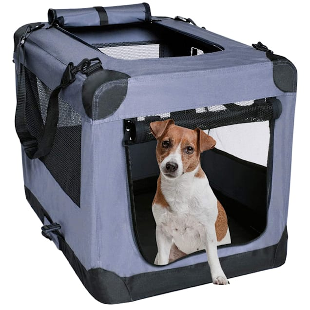 """Arf Pets 3 Door Dog Soft Crate Kennel for Pet Indoor Home & Outdoor Use, 27.5"""" L X 20"""" W X 20"""" H - Carousel image #1"""