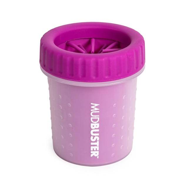 Dexas Fuchsia Mud Buster Dog Paw Cleaner, Small - Carousel image #1