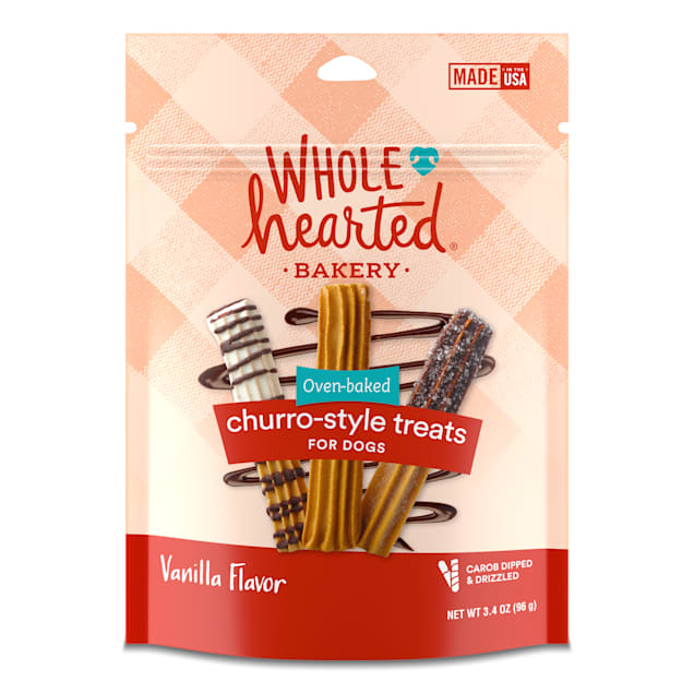 WholeHearted Vanilla Flavor Churro-style Treats for Dogs, 3.4 oz., Count of 3 - Carousel image #1