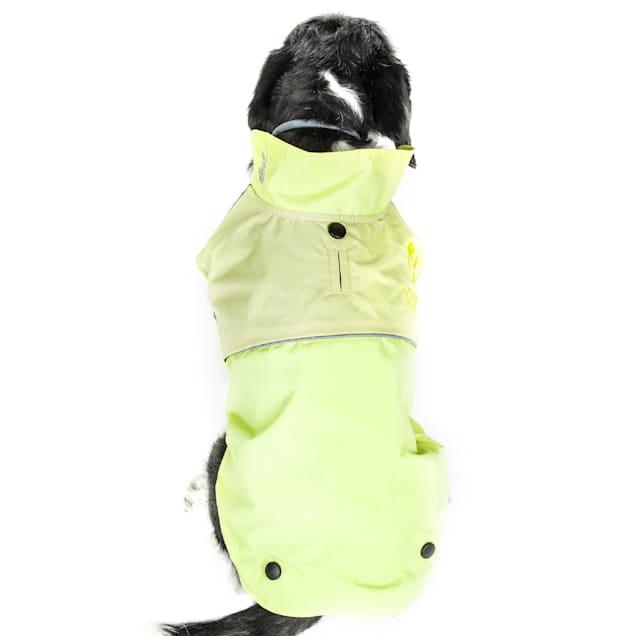 Touchdog Green Lightening-Shield Waterproof 2-in-1 Convertible Dog Jacket, X-Small - Carousel image #1