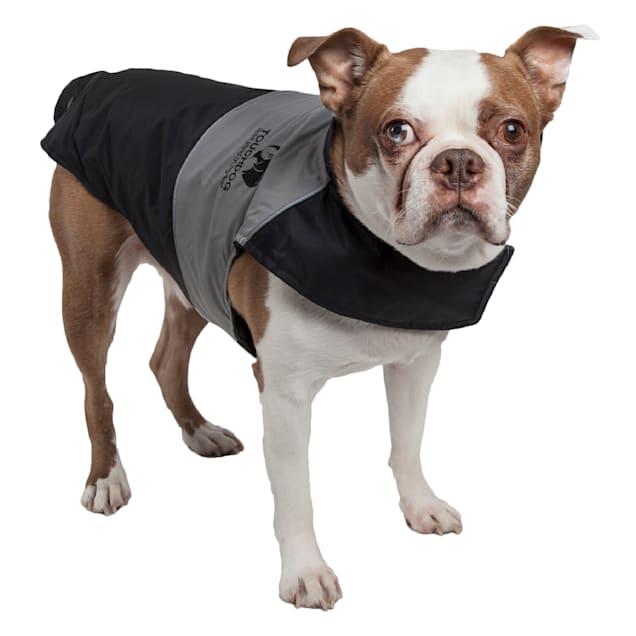 Touchdog Black Lightening-Shield Waterproof 2-in-1 Convertible Dog Jacket, X-Small - Carousel image #1