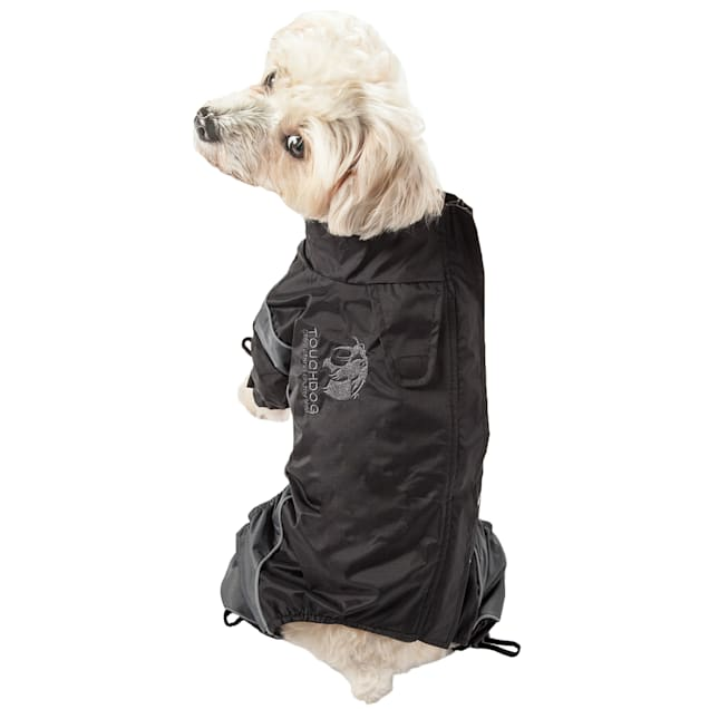 Touchdog Black Quantum-Ice Full-Bodied Adjustable and 3M Reflective Dog Jacket, X-Small - Carousel image #1