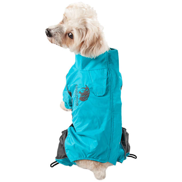 Touchdog Blue Quantum-Ice Full-Bodied Adjustable and 3M Reflective Dog Jacket, X-Small - Carousel image #1