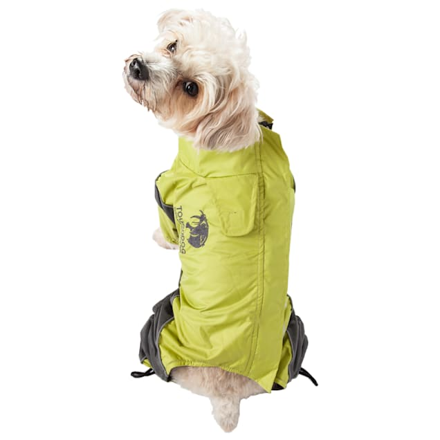 Touchdog Green Quantum-Ice Full-Bodied Adjustable and 3M Reflective Dog Jacket, X-Small - Carousel image #1