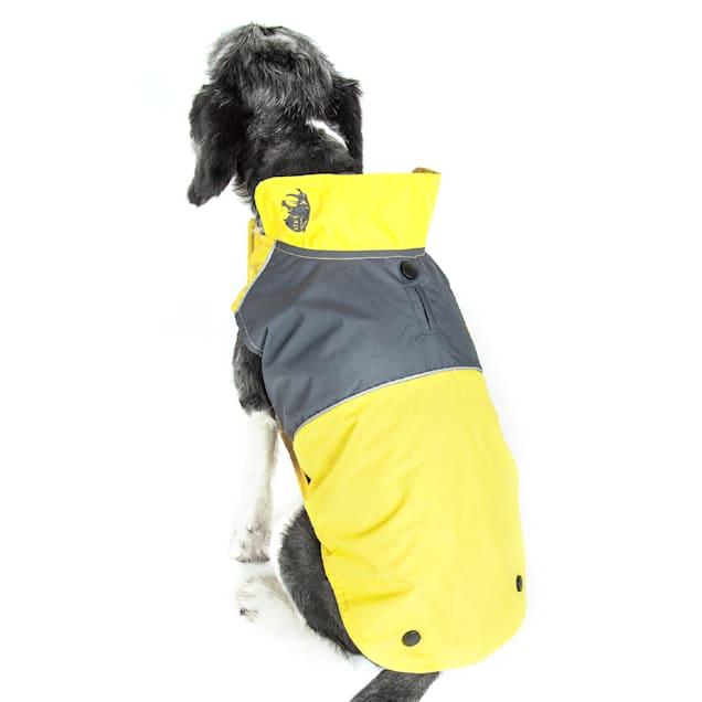 Touchdog Yellow Lightening-Shield Waterproof 2-in-1 Convertible Dog Jacket, X-Small - Carousel image #1