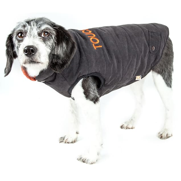 Touchdog Black Waggin Swag Reversible Insulated Pet Coat, X-Small - Carousel image #1