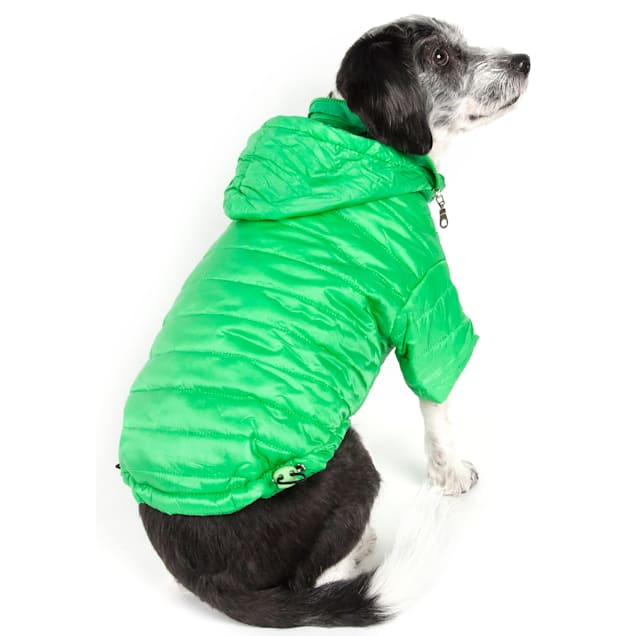 Pet Life Green Lightweight Adjustable Sporty Avalanche Pet Coat, X-Small - Carousel image #1