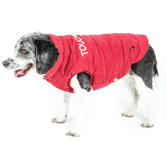 Touchdog Pink Waggin Swag Reversible Insulated Pet Coat, X-Small - Carousel image #1