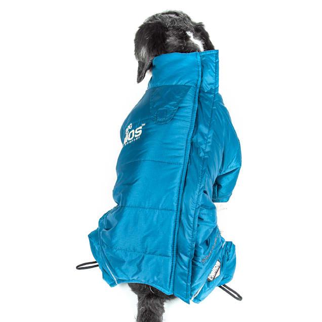 Dog Helios Blue Thunder-Crackle Full-Body Waded-Plush Adjustable and 3M Reflective Dog Jacket, X-Small - Carousel image #1