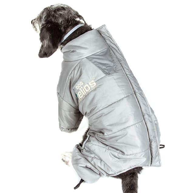Dog Helios Grey Thunder-Crackle Full-Body Waded-Plush Adjustable and 3M Reflective Dog Jacket, X-Small - Carousel image #1