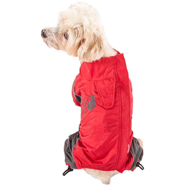 Touchdog Red Quantum-Ice Full-Bodied Adjustable and 3M Reflective Dog Jacket, X-Small - Carousel image #1