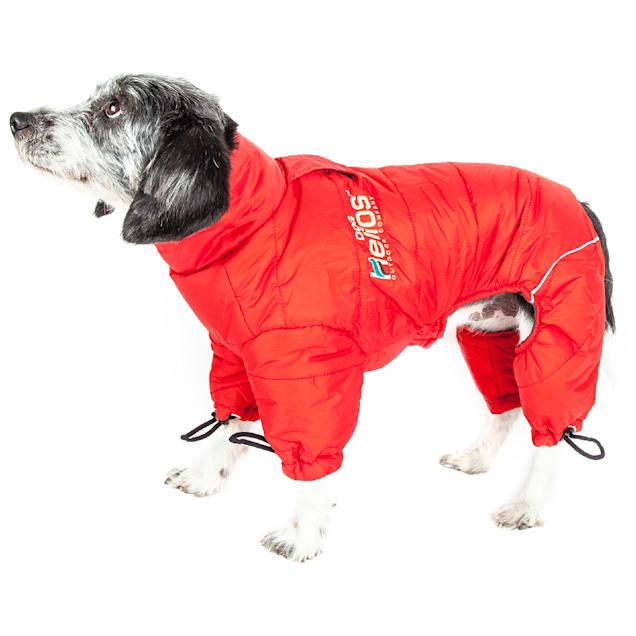 Dog Helios Red Thunder-Crackle Full-Body Waded-Plush Adjustable and 3M Reflective Dog Jacket, X-Small - Carousel image #1