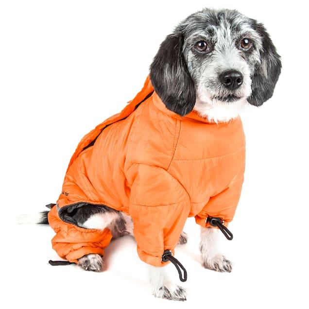 Dog Helios Orange Thunder-Crackle Full-Body Waded-Plush Adjustable and 3M Reflective Dog Jacket, X-Small - Carousel image #1