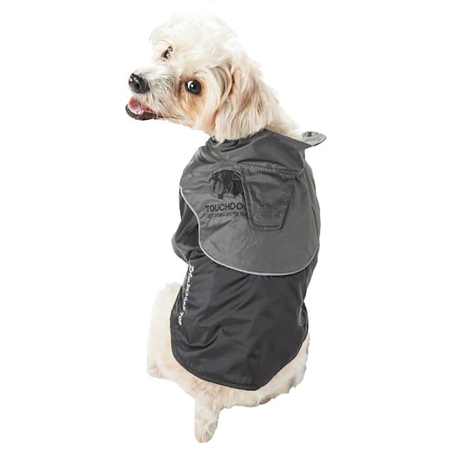 Touchdog Black Subzero-Storm Waterproof 3M Reflective Dog Coat, X-Small - Carousel image #1