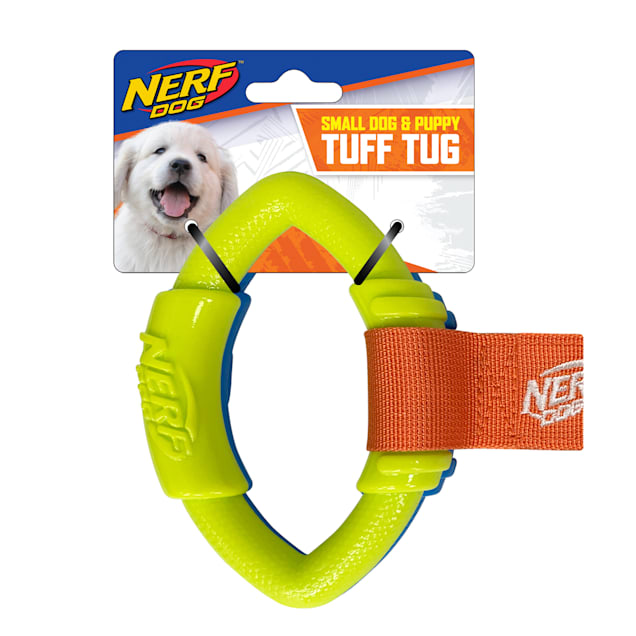 Nerf TPR Football Ring Tug Dog Toy, Small - Carousel image #1