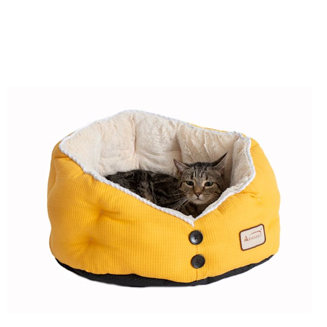 """Armarkat Gold Waffle and White Model C75HMB/MH Pet Bed, 22"""" L X 18"""" W X 14"""" H - Carousel image #1"""