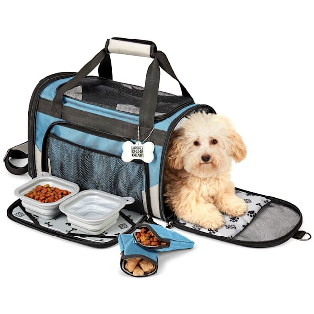 Mobile Dog Gear Blue Pet Carrier Plus, Small - Carousel image #1