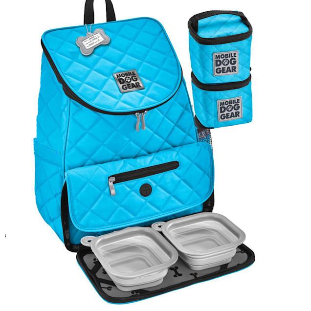 Mobile Dog Gear Light Blue Weekender Backpack - Carousel image #1
