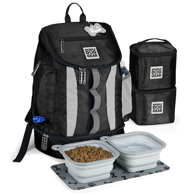Mobile Dog Gear Black Drop Bottom Week Away Backpack - Carousel image #1