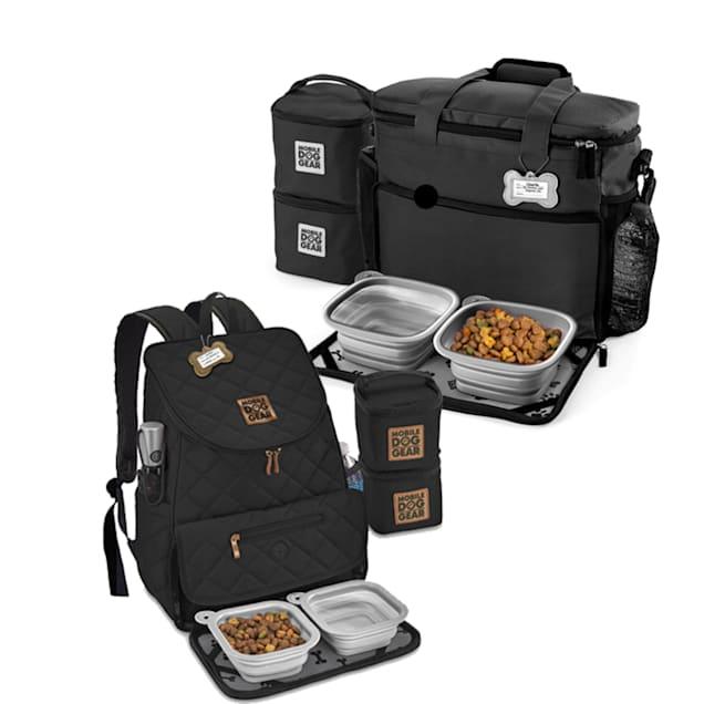 Mobile Dog Gear Black Bundle Week Away Bag and Weekender Backpack, Medium/Large - Carousel image #1
