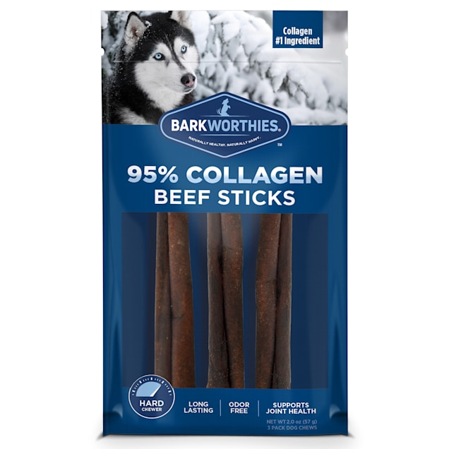 Barkworthies Beef Collagen Sticks for Dogs, Pack of 3 - Carousel image #1