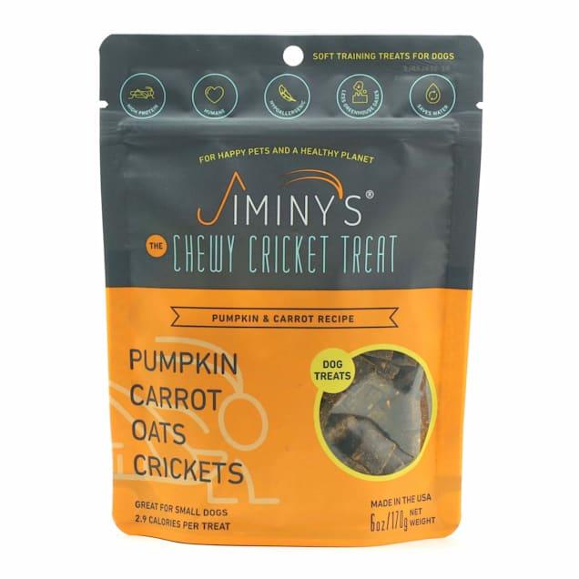 Jiminy's Pumpkin & Carrot Recipe Chewy Training Dog Treats, 6 oz. - Carousel image #1