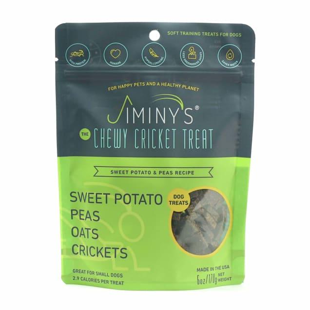 Jiminy's Sweet Potato & Peas Recipe Chewy Training Dog Treats, 6 oz. - Carousel image #1