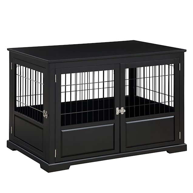 "Zoovilla Fairview Triple Door Black Dog Crate, 43.2"" L X 28.5"" W X 30"" H - Carousel image #1"