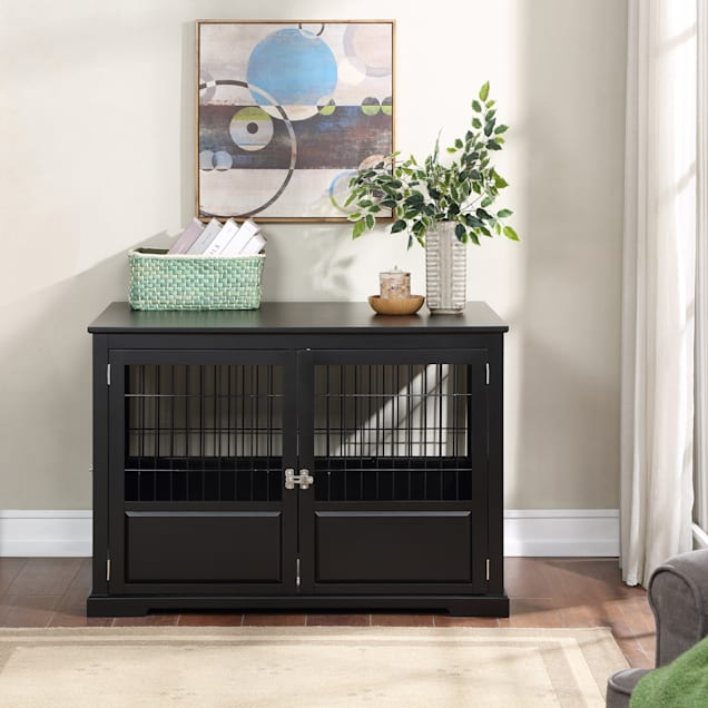 Zoovilla Fairview Triple Door Black Dog Crate 43 2 L X 28 5 W X 30 H Petco