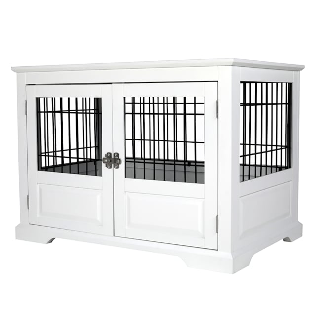"""Zoovilla Fairview Triple Door White Dog Crate, 43.2"""" L X 28.5"""" W X 30"""" H - Carousel image #1"""