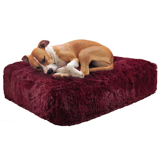 """Bessie and Barnie Rosewood Luxury Extra Plush Faux Fur Rectangle Dog Bed, 28"""" L X 24"""" W - Carousel image #1"""
