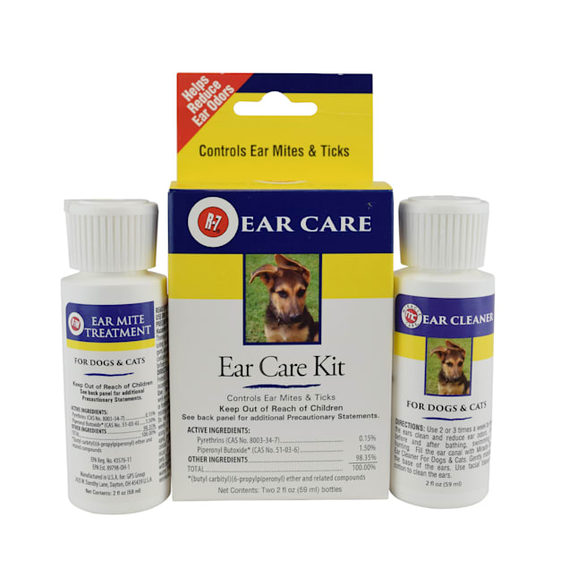 Miracle Care R-7 Ear Mite Treatment Kit for Dogs & Cats, 2 fl. oz. - Carousel image #1