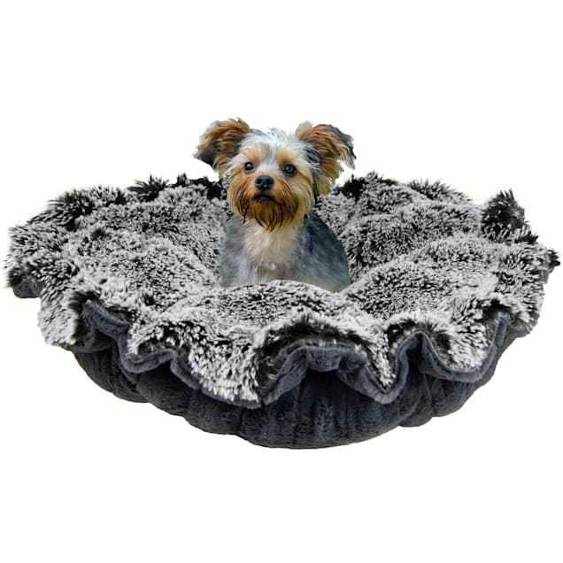 """Bessie and Barnie Ultra Plush Midnight Frost/Gravel Stone Deluxe Luxury Pet Cuddle Pod Bed, 30"""" L X 30"""" W - Carousel image #1"""