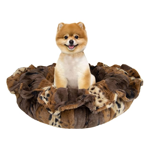 """Bessie and Barnie Ultra Plush Wild Kingdom Luxury Deluxe Pet Lily Pod Bed, 24"""" L X 24"""" W - Carousel image #1"""