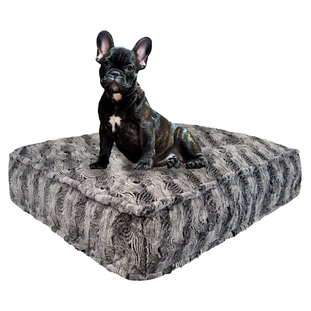 "Bessie and Barnie Arctic Seal Luxury Extra Plush Faux Fur Rectangle Dog Bed, 28"" L X 24"" W - Carousel image #1"