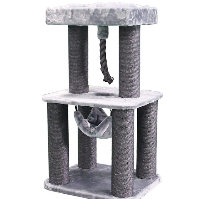 "Kitty Mansions Grey Portlandia Cat Tree, 48"" H - Carousel image #1"