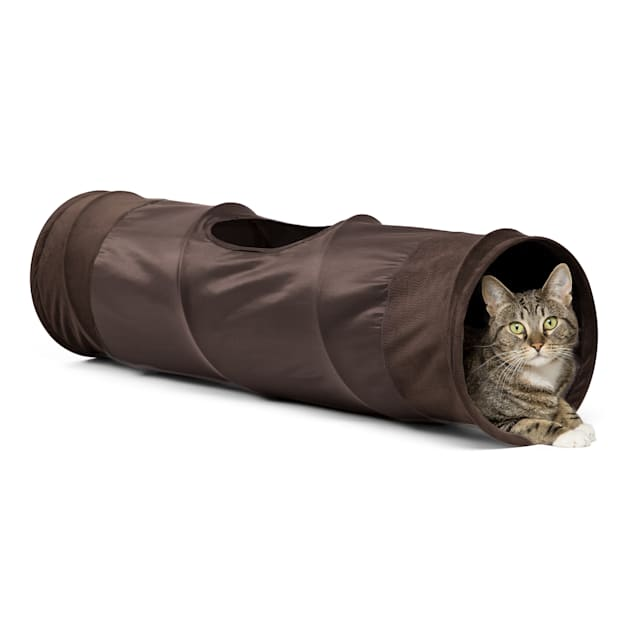 "Best Friends by Sheri Chocolate Cat Tunnel, 36"" L X 10"" W X 10"" H - Carousel image #1"