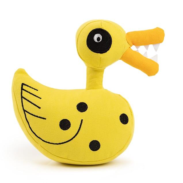 Best Friends by Sheri Disney Yellow Nightmare Christmas Scary Duck Plush Chew Dog Toy, Medium - Carousel image #1