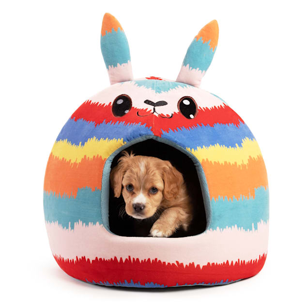 """Best Friends by Sheri Blue Pinata Novelty Meow Hut Covered Bed for Pets, 16"""" L X 16"""" W - Carousel image #1"""