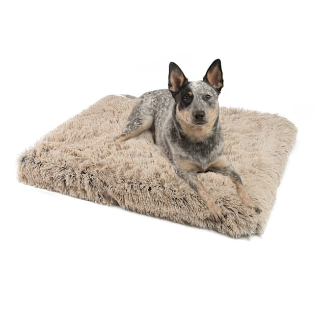 """Best Friends by Sheri Taupe Calming Shag Fur CertiPUR Orthopedic Nap Mat for Dogs, 36"""" L X 27"""" W - Carousel image #1"""