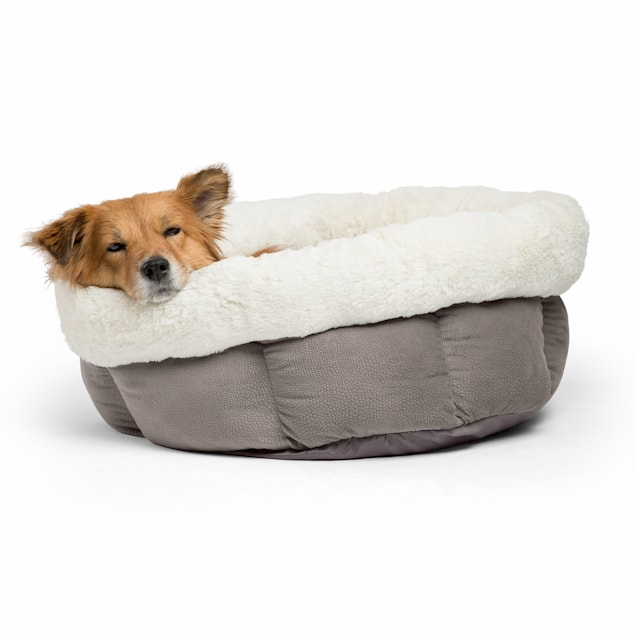 """Best Friends by Sheri Jumbo Gray Cuddle Cup Cat and Dog Bed in Ilan Microfiber, 24"""" L X 24"""" W - Carousel image #1"""