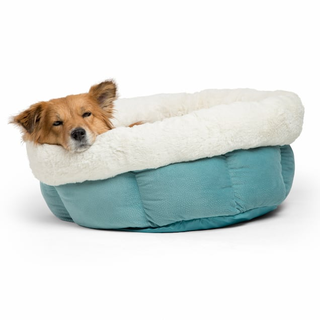 """Best Friends by Sheri Jumbo Tide Pool Cuddle Cup Cat and Dog Bed in Ilan Microfiber, 24"""" L X 24"""" W - Carousel image #1"""