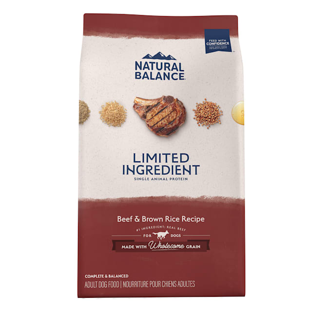 Natural Balance L.I.D. Limited Ingredient Diets Beef & Brown Rice Formula Dry Dog Food, 24 lbs. - Carousel image #1