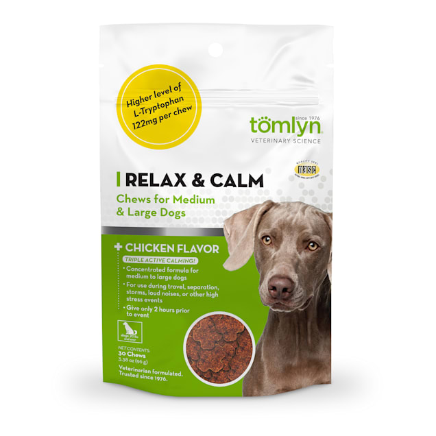 Tomlyn Relax & Calm Chews for Medium & Large Dogs, 3.38 oz., Count of 30 - Carousel image #1