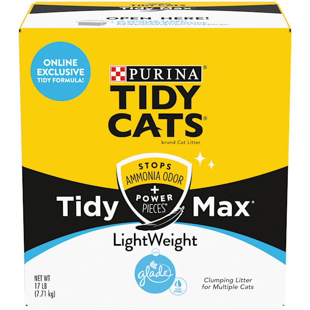 Tidy Cats Clumping LightWeight Max Glade Clear Springs Formula Multi Cat Litter, 17 lbs. - Carousel image #1
