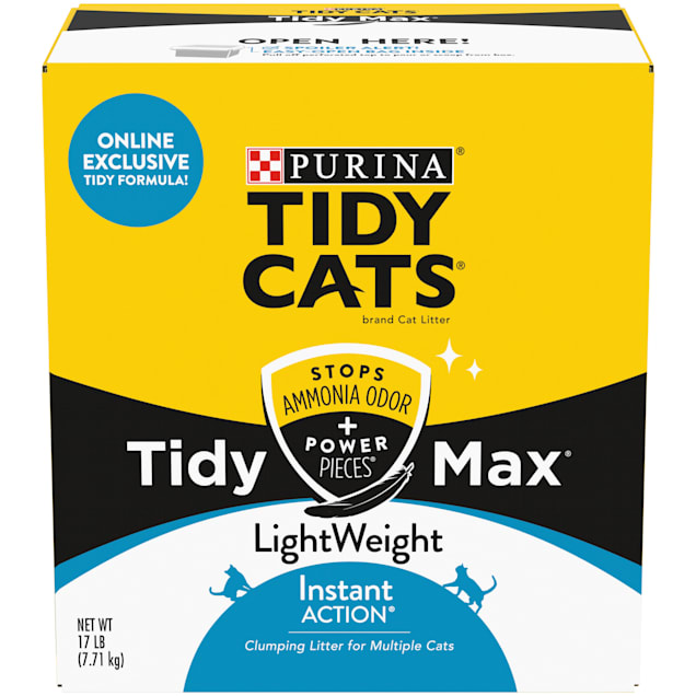Tidy Cats Clumping LightWeight Max Instant Action Formula Multi Cat Litter, 17 lbs. - Carousel image #1