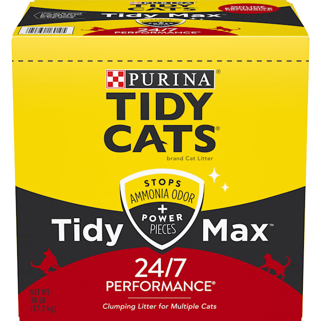 Tidy Cats Clumping Max 24/7 Performance Multi Cat Litter, 38 lbs. - Carousel image #1